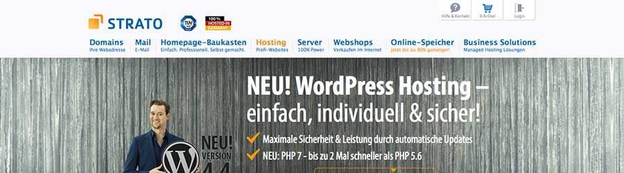 strato wordpress hosting