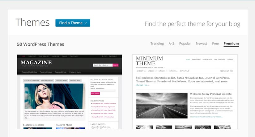 wordpress com themes